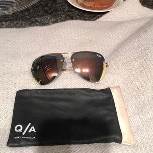 Quay  rose gold aviator sunglasses